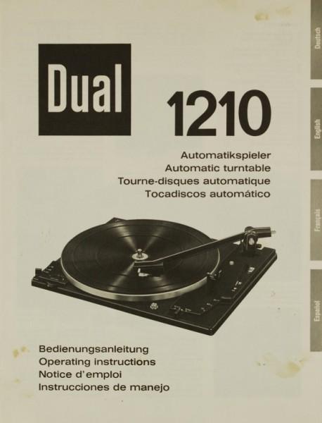 Dual 1210 Bedienungsanleitung