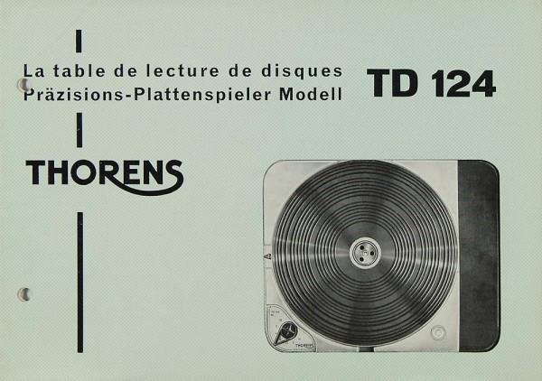 Thorens TD 124 Bedienungsanleitung