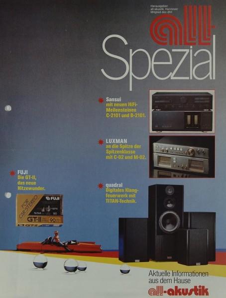 All-Akustik All-Spezial Prospekt / Katalog