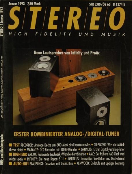 Stereo 1/1993 Zeitschrift
