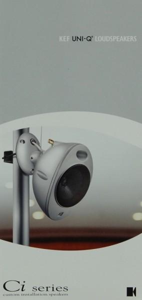 KEF Ci series / UNI-Q Loudspeakers Prospekt / Katalog
