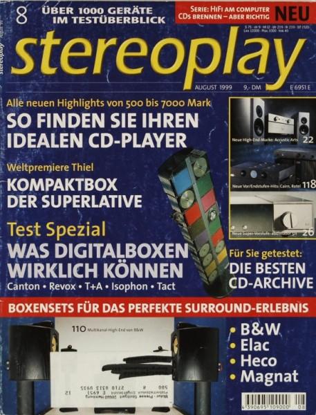 Stereoplay 8/1999 Zeitschrift