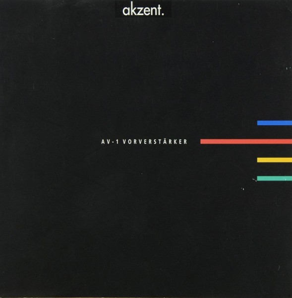 Akzent AV-1 Prospekt / Katalog