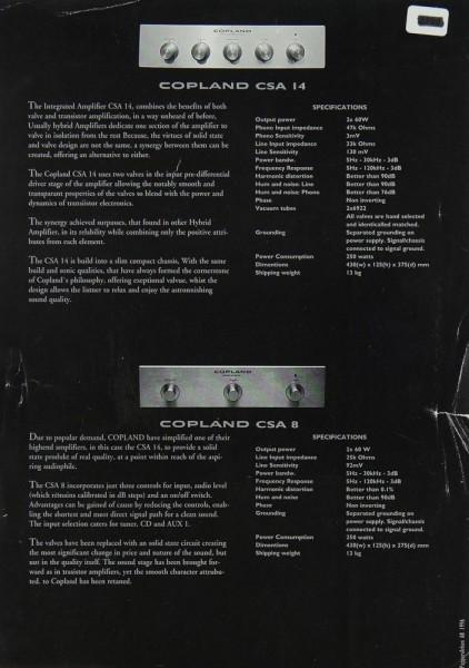 Copland CSA 14 / CSA 8 Prospekt / Katalog