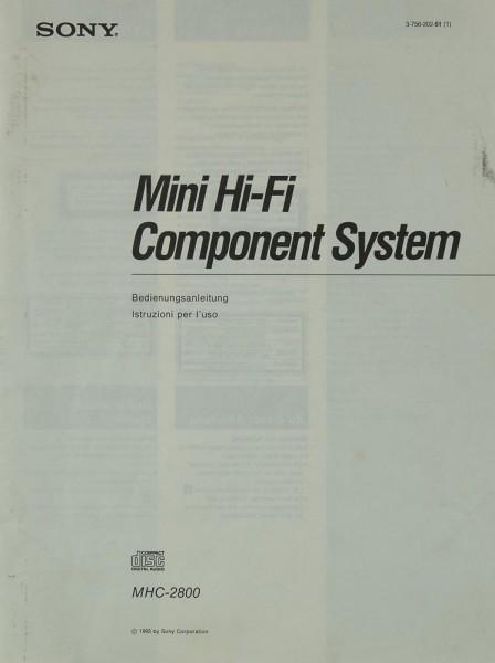 Sony MHC-2800 Bedienungsanleitung