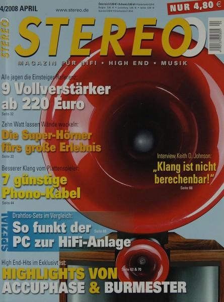 Stereo 4/2008 Zeitschrift