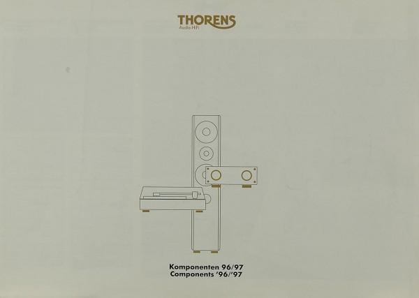 Thorens Komponenten 96/97 Prospekt / Katalog
