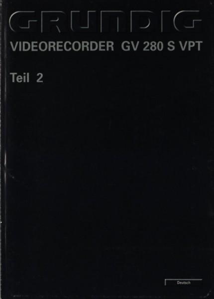 Grundig GV 280 S VPT Teil 2 Bedienungsanleitung
