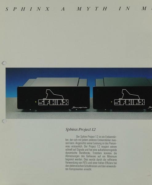Sphinx Ptoject 12 Prospekt / Katalog