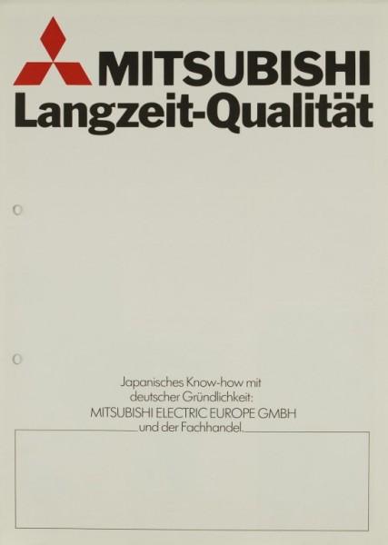 Mitsubishi Langzeit-Qualität Prospekt / Katalog