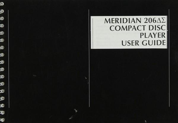Meridian 206 DS Bedienungsanleitung