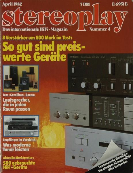 Stereoplay 4/1982 Zeitschrift