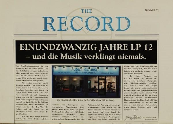 The Record Number VII Zeitschrift
