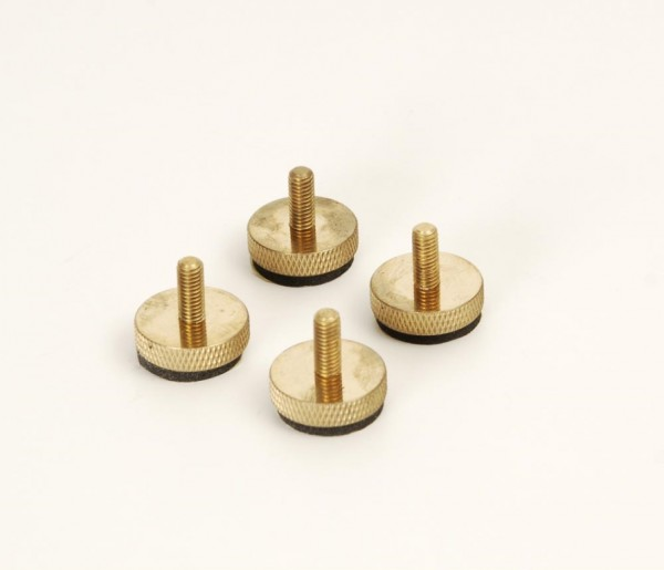 Geräte-/Lautsprecherfüße M6 Messing 4er Set