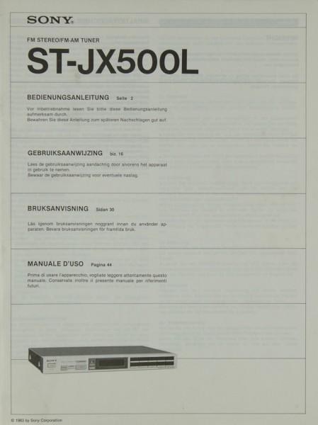 Sony ST-JX 500 L Bedienungsanleitung