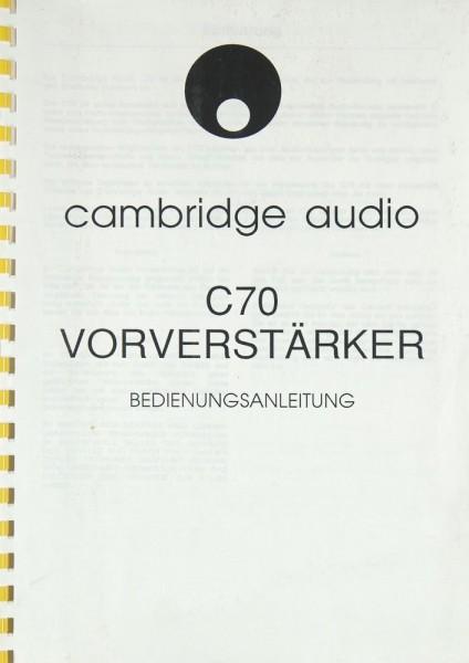 Cambridge C 70 Bedienungsanleitung