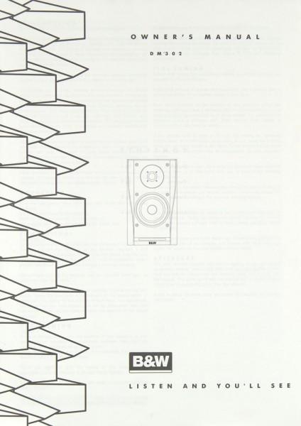 B & W DM 302 Bedienungsanleitung