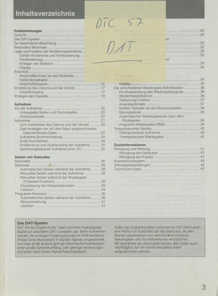 Sony DTC-57 Bedienungsanleitung