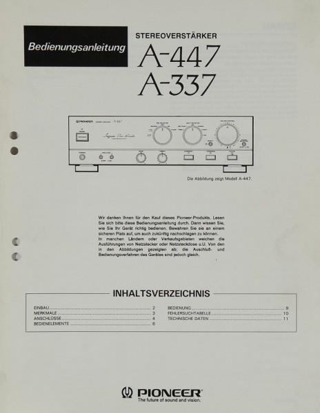 Pioneer A-447 / A-337 Bedienungsanleitung