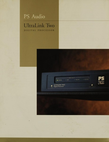 PS Audio UltraLink Two Prospekt / Katalog