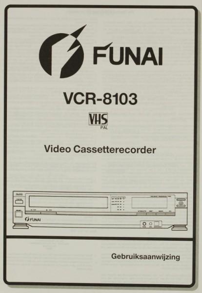 Funai VCR-8103 Bedienungsanleitung