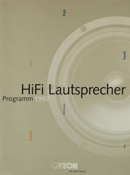 Canton HiFi Lautsprecher Programm 1997 Prospekt / Katalog