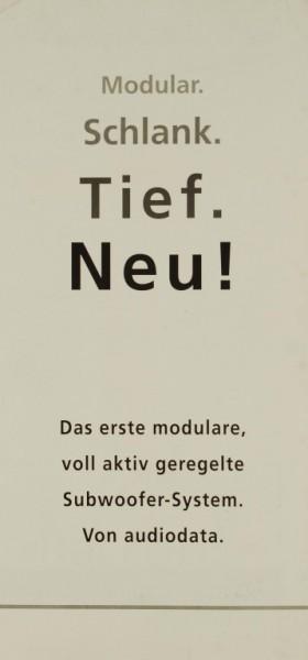 Audiodata Elektroakustik gmbh Raccord / Soutien (Modular. Schlank. Tief. Neu.) Prospekt / Katalog