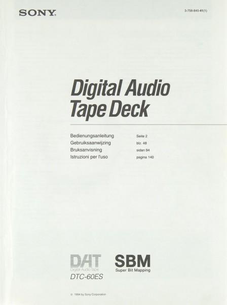 Sony DTC-60 ES Bedienungsanleitung