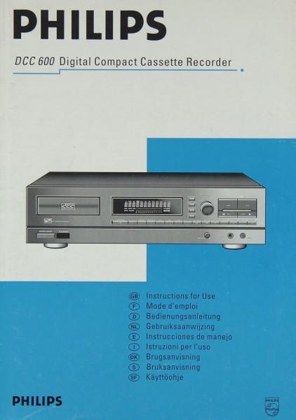 Philips DCC 600 Bedienungsanleitung