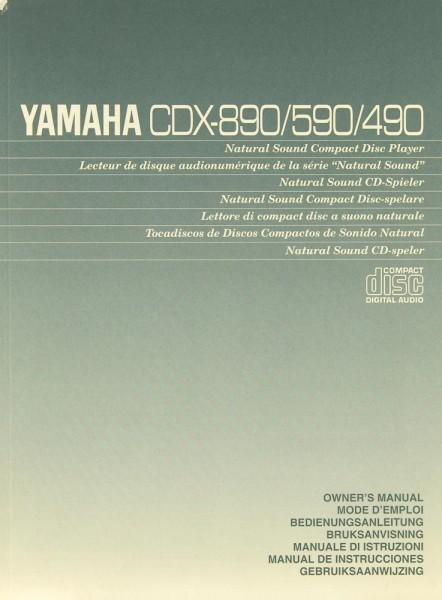 Yamaha CDX-890 / CDX-590 / CDX-490 Bedienungsanleitung