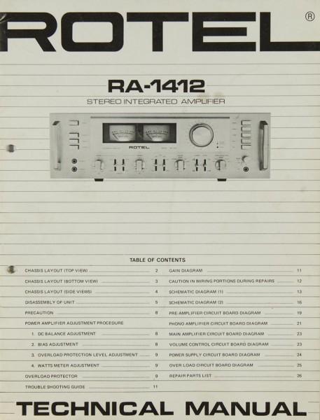 Rotel RA-1412 Serviceanleitung