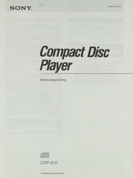 Sony CDP-915 Bedienungsanleitung