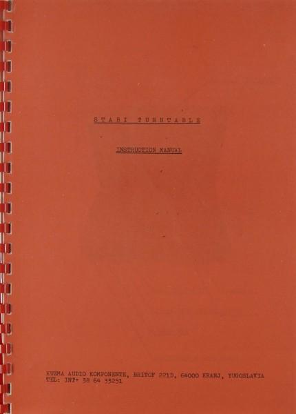 Stabi Stabi Turntable Bedienungsanleitung