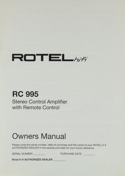 Rotel RC 995 Bedienungsanleitung