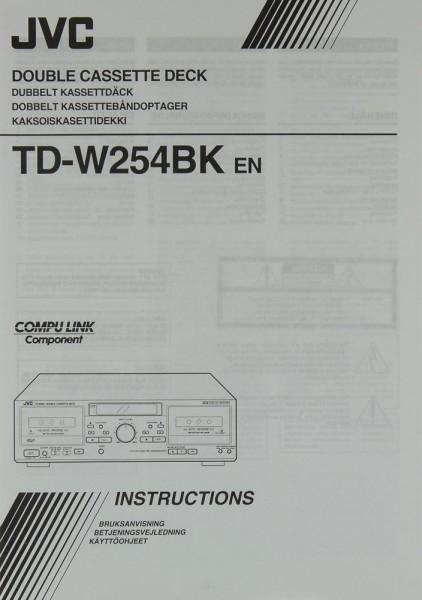 JVC TD-W 254 BK (EN) Bedienungsanleitung