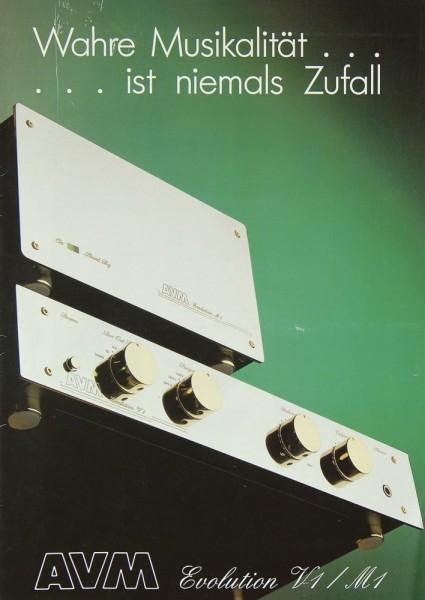 AVM Evolution V1 / M1 Prospekt / Katalog