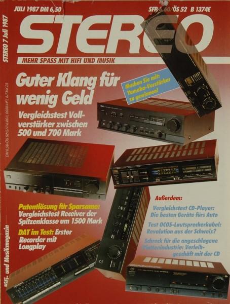 Stereo 7/1987 Zeitschrift