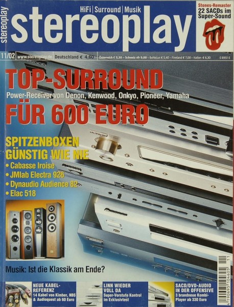 Stereoplay 11/2002 Zeitschrift