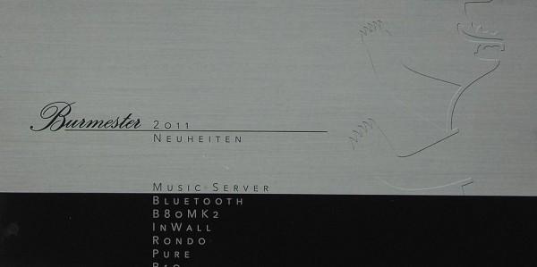 Burmester 2011 Neuheiten Prospekt / Katalog