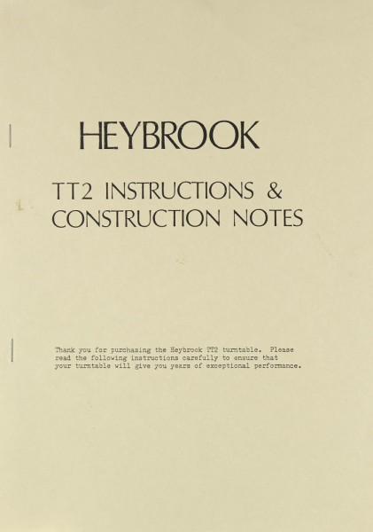 Heybrook TT 2 Bedienungsanleitung