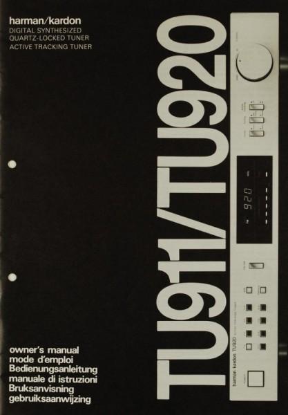 Harman / Kardon TU 911 / TU 920 Bedienungsanleitung