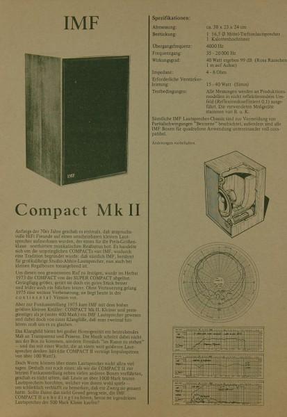 IMF Compact Mk II Prospekt / Katalog