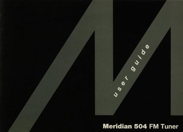 Meridian Meridian 504 Bedienungsanleitung