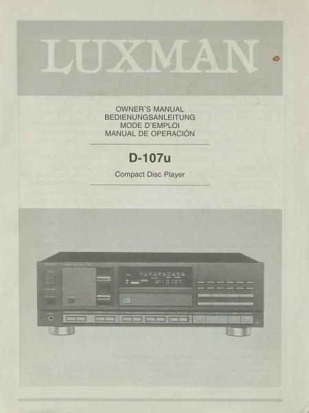 Luxman D-107 u Bedienungsanleitung