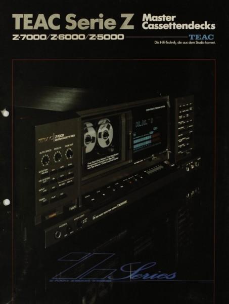 Teac Serie Z / Z-7000 / Z-6000 / Z-5000 Prospekt / Katalog