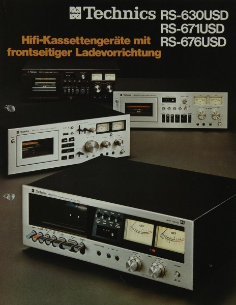 Technics RS-630 USD / RS-671 USD / RS-676 USD Prospekt / Katalog