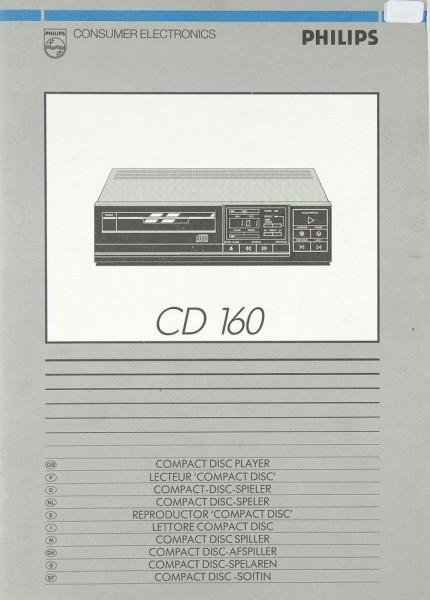 Philips CD 160 Bedienungsanleitung