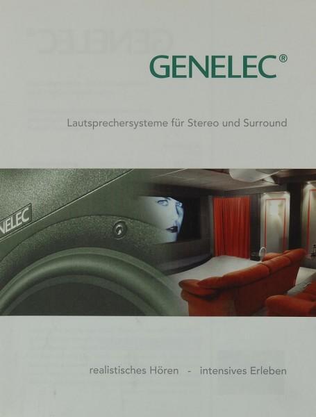 Genelec Lautsprechersysteme für Stereo und Surround Prospekt / Katalog