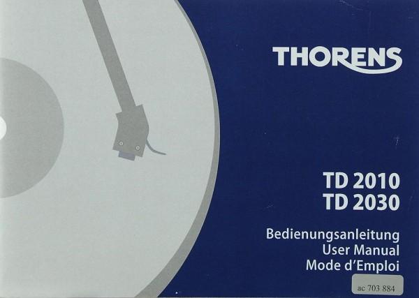 Thorens TD 2010 / TD 2030 Bedienungsanleitung