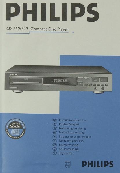 Philips CD 710 / 720 Bedienungsanleitung